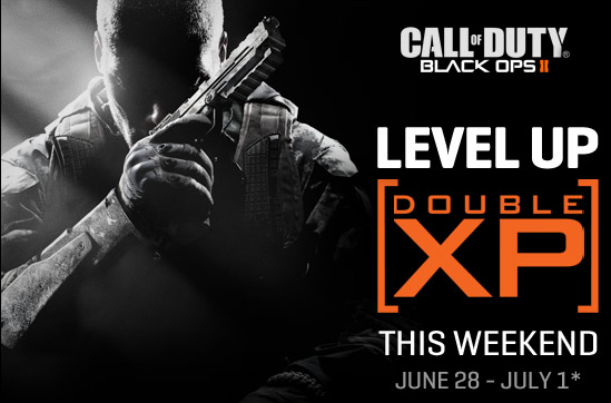 Call of Duty Black Ops 2 Double XP Weekend Promotion